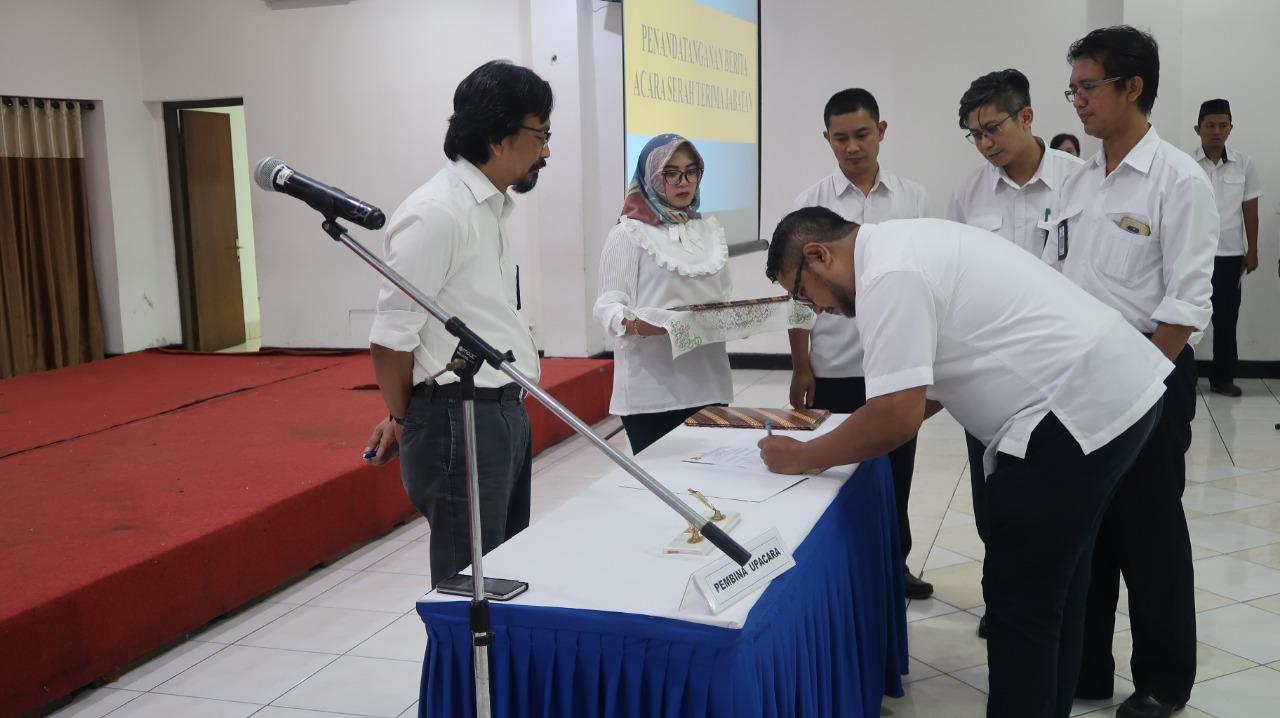 Serah Terima Jabatan Pejabat Pengawas di Lingkungan Pusjatan