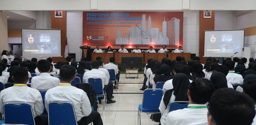 Acara penutupan kegiatan Pengenalan Kelitbangan bagi Calon Pegawai Negeri Sipil (CPNS) Formasi TA 2018